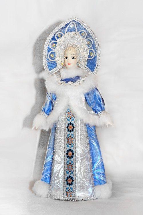 Игрушка снегурочка своими руками из ткани