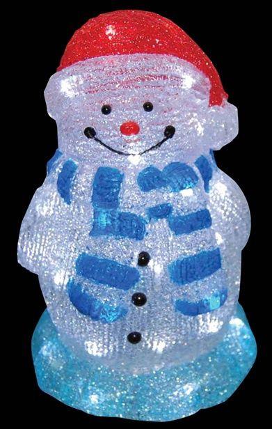 """Светящаяся фигура акриловая """"Снеговик"""" 28см. ZEC 2335, купить недорого подарки, сувениры с доставкой в регионы"""