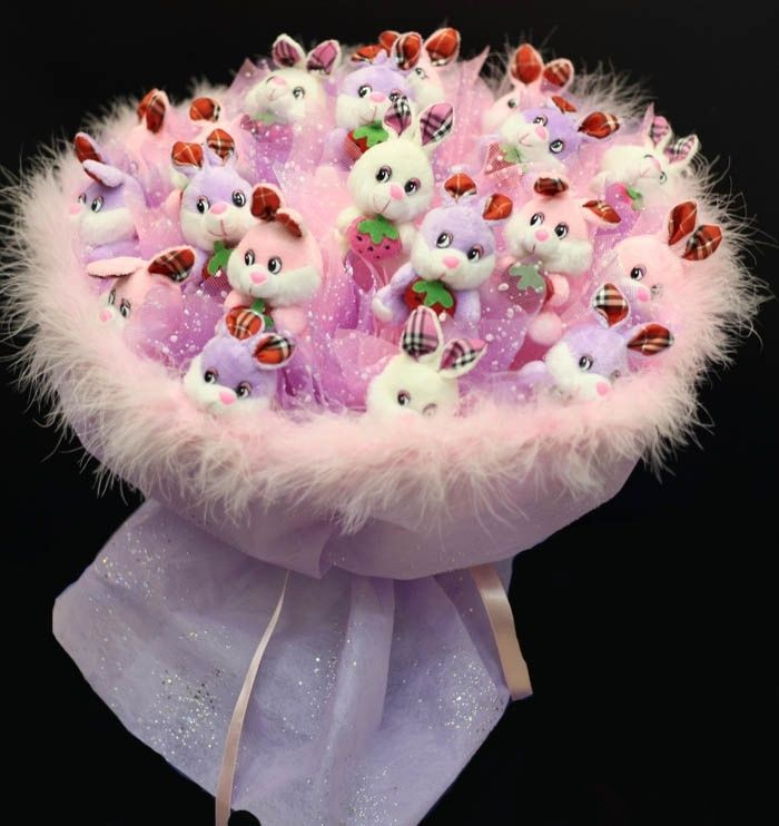 Букет из цветов на день рождения своими руками 18